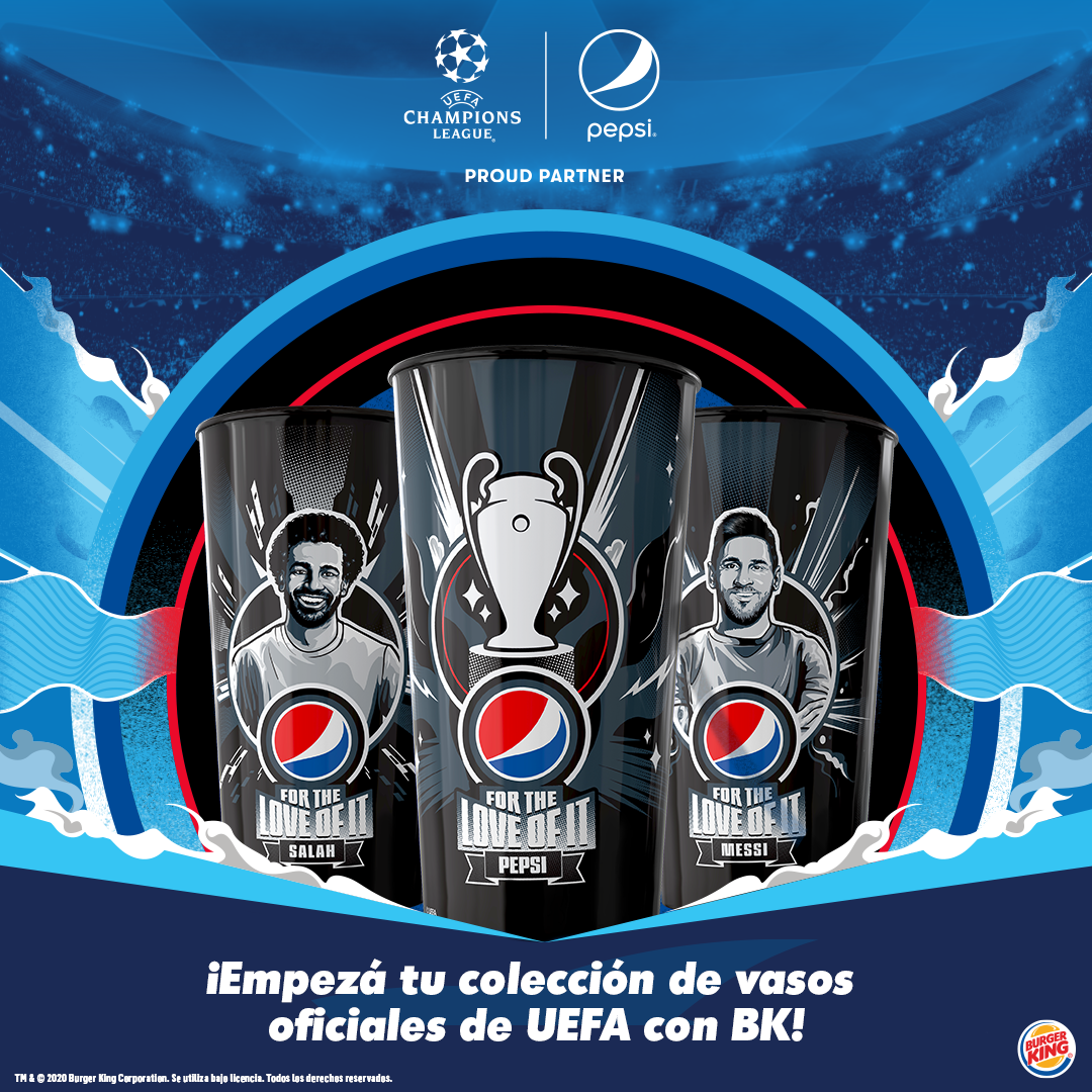 Promoción de BK con los vasos de Pepsi de la UEFA está de vuelta!