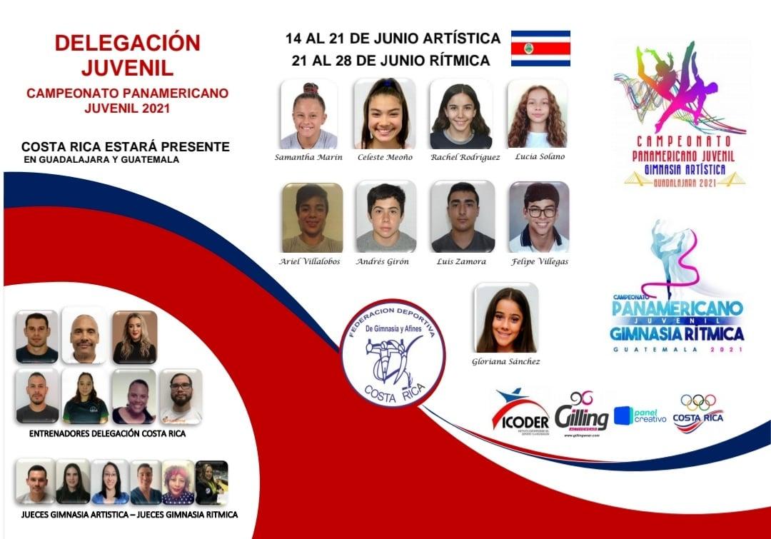 Gimnastas de Costa Rica buscarán en México y Guatemala cupos para los Panamericanos Júnior